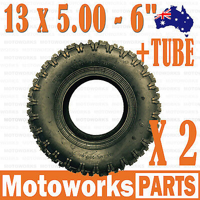 "2 x 13 x 5.00 - 6"" inch Tyre Tire TUBE ATV QUAD Bike Gokart Scooter Buggy Mower"