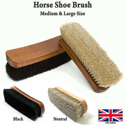 100% Pure Horsehair Brush/Shoe Boot Polish/Small/Medium/Large Size(Free P&P)
