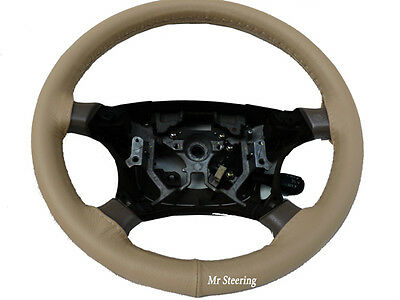 Genuine Beige Leather Steering Wheel Cover For 2004-2012 Mitsubishi Colt Mk6 New