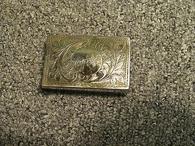 VINTAGE  MATCH BOX HOLDER STRIKER COVER inscribed Montrose