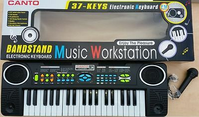 Kids Childrens 37 Key Electronic Keyboard Piano Musical Toy Mic Records FM RADIO