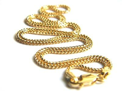 """18ct Yellow Gold Franco Chain Necklace 18""""/45cm x 1.4mm thick Top Quality 18K"""