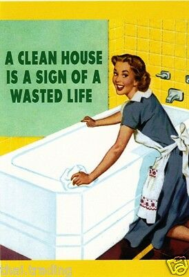 "Vintage Funny House Cleaning Ads Photo Fridge Magnet 2""x3"" Collectibles"