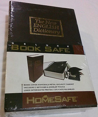Home Safe Security Deluxe The New English Dictionary Book Safe 2 Metal Keys