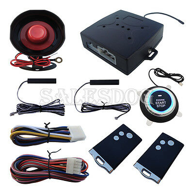 New Smart Key Car PKE Alarm System Push Start Stop Button Remote Engine Start