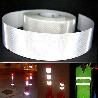 """2""""X10' 3M Silver White Reflective Safety Warning Conspicuity Tape Film Sticker 0"""