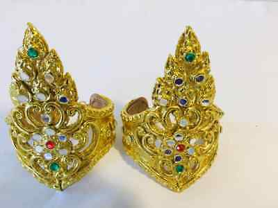 Thai traditional Style Dance Costume Jewelry coated gold wristband ACCESSORIES