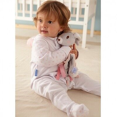 Grobag Gro-suit baby grow sleepsuit TWIN PACK - Pink Hearts 12-18 months Grosuit