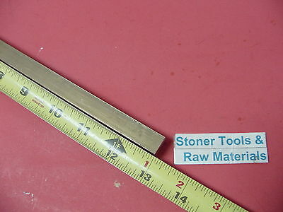 "1/2"" x 1/2"" C360 BRASS SQUARE BAR 13"" long Solid .50"" Flat Mill Stock H02"