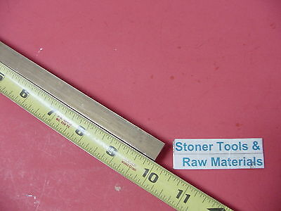 "1/2"" x 1/2"" C360 BRASS SQUARE BAR 10"" long Solid .50"" Flat Mill Stock H02"