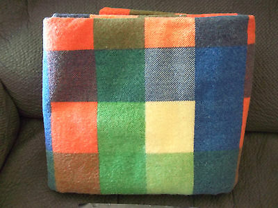 Vintage Varsity Plaid Blanket by Charles D. Owen Mfg.Co. 100% Polyester ~ New