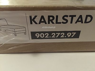 ikea karlstad isunda bezug husse 2er sofa nicht ausklappbar grau dekoria neu eur 150 00. Black Bedroom Furniture Sets. Home Design Ideas