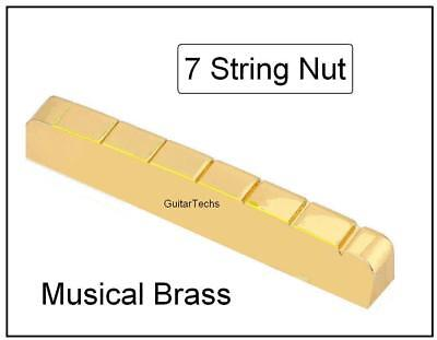 SLOTTED BRASS NUT made for Ibanez RG7 / 7 String Electric Guitar - GuitarTechs