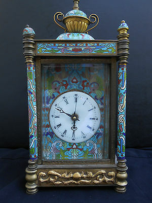 Chinese Vintage antique reproduction  Cloisonne Table Clock