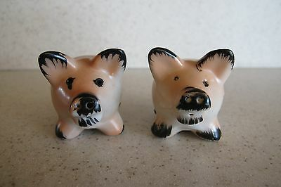 PIG SALT AND PEPPER SHAKER S&P Shakers ~SIGNED~ OCCUPIED JAPAN