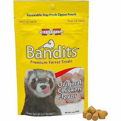 Marshall Pet Bandits Ferret Treat, Chicken, 3oz Direct from Manufacture