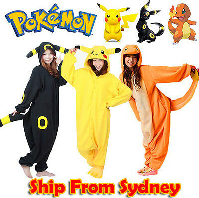 Pokemon Onsie Kigurumi Pikachu Jumpsuit Charmander Umbreon Costumes Pajamas