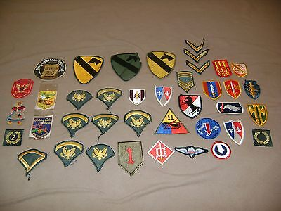 New and Vintage Patches--Military and Non-Military—Lot of 39