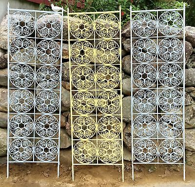 Antique Victorian Wrought Iron 6 ft Garden Grate Grill Trellis Gate 2 available
