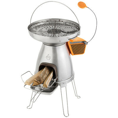 BioLite BaseCamp Eco-Friendly Stove Grill Off-Grid Camping Cooking Wood Powered