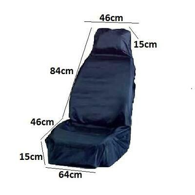 Easy To Fit, Front Tough Car Seat Protector Durable Blue Cover