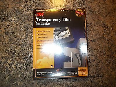 """3M Transparency Film PP2200 for Copiers 8.5""""x11"""" 100 Sheets, Factory Sealed Box"""