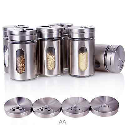 Quality Stainless Steel Seasoning Pot Salt Pepper Spices Kitchen Condiment Box