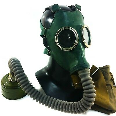 Soviet Russian USSR Military Gas mask GP-4 with hose respiratory surplus NEW