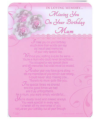Missing you on your birthday Mum Grave Cards In Loving Memory Graveside Memorial
