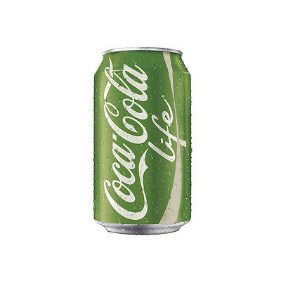 Coca Cola Life Cans 330ml (24 Cans) Cocacola Coke