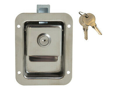 Buyers Products L1883, Junior Size Flush Mount Paddle Latch Stainless Steel