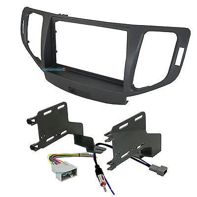 Aftermarket Double-Din Radio Install Dash Kit & Wires for TSX, Car Stereo Mount