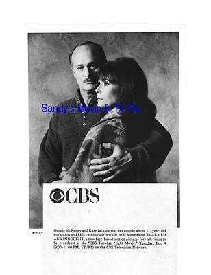 KATE JACKSON, GERALD McRANEY Terrific Original TV Photo ARMED AND INNOCENT