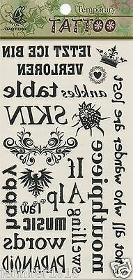 Sticker Tatouage Autocollant Temporaire Tattoo Q009 Couronne Coeur