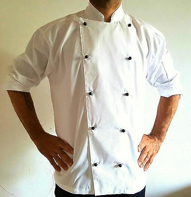 3 Pack Of New Chef Jackets, Only $10 Each Coat + 3 Black Set Buttons !!