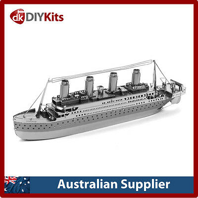 Metal Earth Titanic Ship DIY laser cut 3D steel model kit