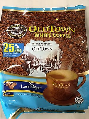 Old Town Instant White Coffee 3 in 1 OldTown Less Sugar 35G x 15 Sachets