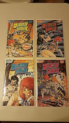 DIRTY PAIR 1 2 3 4 GREAT SHAPE ECLIPSE COMICS MANGA COMPLETE SERIES