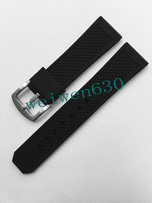 23mm silicone rubber watch band strap for Caliber De Cartier buckle  Clasp