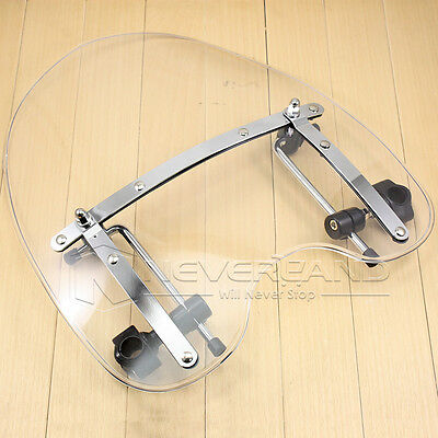 "18x16"" Clear Windshield Screen For Harley Dyna Softail Sportster Road King 70-12"