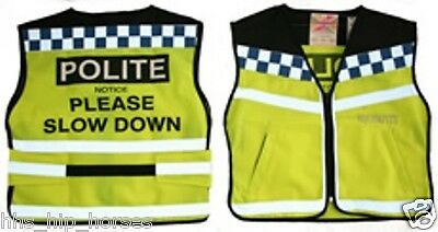 POLITE Hi Viz Tabard/Waistcoat - ALL SIZES ** MUST HAVE ITEM ** Childs & Adults