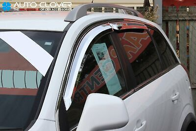 For Chevrolet Captiva 2007+ Chrome Wind Deflectors Set (4 pieces)