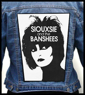 SIOUXSIE AND THE BANSHEES  --- Giant Backpatch Back Patch / The Cure Bauhaus