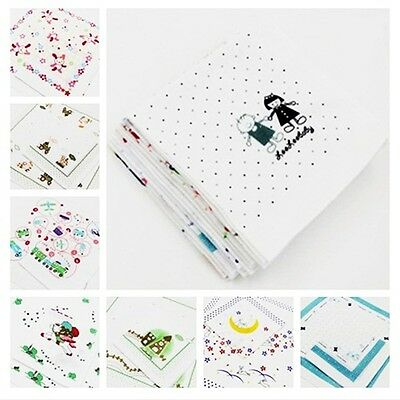 Lot Women Lady Children Cartoon Soft Cotton Handkerchiefs #U Quadrate Hankies
