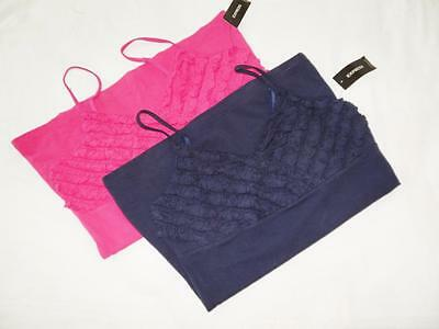 New Women's Express Ruffle Trimmed Camisoles - Sizes XXS, M, L - NWT - 2 Colors!