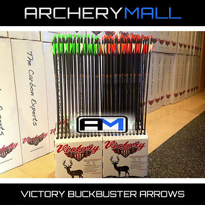 12 VICTORY Buck Buster carbon arrows 350 or 400 free cutting &inserts buckbuster