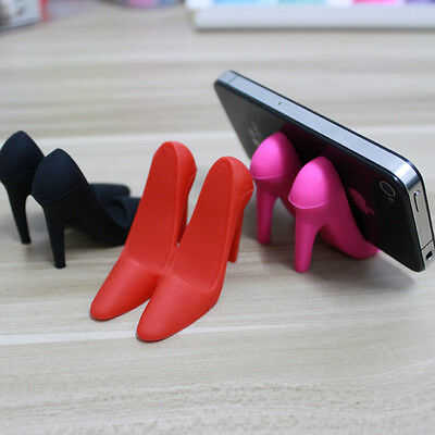 pink high-heeled shoes desktop cell phone holder Stand ForiPhone5/6 Samsung MP4