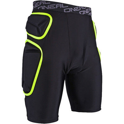 Oneal NEW Mx Gear Trail Lime Black Under Armour MTB Motocross Padded Shorts
