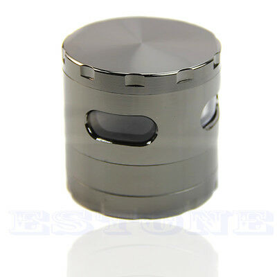 55mm 4 Piece Zinc Alloy Hand Crank Herb Mill Crusher Tobacco Smoke Grinder