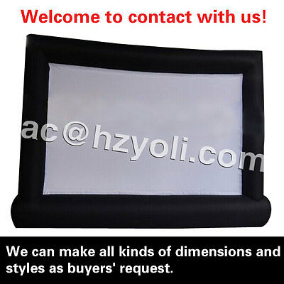 free shipping,giant inflatable screen for movie/advertising ,custom screen color